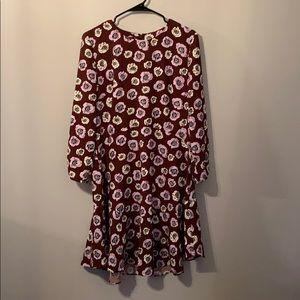 Maroon/Blush Floral Dress by Ann Taylor Loft 👗